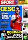 Portada diario Sport del 13 de Noviembre de 2009