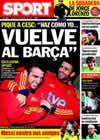 Portada diario Sport del 14 de Noviembre de 2009