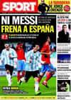 Portada diario Sport del 15 de Noviembre de 2009