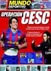Portada Mundo Deportivo del 16 de Noviembre de 2009