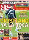 Portada diario AS del 17 de Noviembre de 2009
