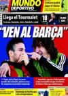 Portada Mundo Deportivo del 18 de Noviembre de 2009