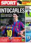 Portada diario Sport del 19 de Noviembre de 2009