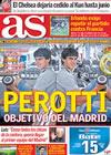 Portada diario AS del 20 de Noviembre de 2009