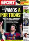 Portada diario Sport del 20 de Noviembre de 2009