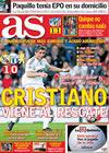 Portada diario AS del 26 de Noviembre de 2009