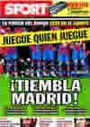 Portada diario Sport del 26 de Noviembre de 2009