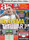 Portada diario AS del 27 de Noviembre de 2009