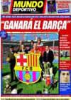 Portada Mundo Deportivo del 28 de Noviembre de 2009