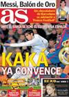 Portada diario AS del 1 de Diciembre de 2009