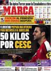 Portada diario Marca del 5 de Diciembre de 2009