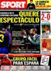 Portada diario Sport del 5 de Diciembre de 2009
