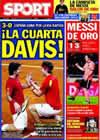 Portada diario Sport del 6 de Diciembre de 2009