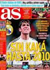 Portada diario AS del 7 de Diciembre de 2009