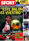 Portada diario Sport del 7 de Diciembre de 2009