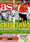 Portada diario AS del 8 de Diciembre de 2009
