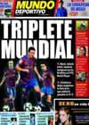 Portada Mundo Deportivo del 8 de Diciembre de 2009