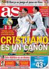 Portada diario AS del 9 de Diciembre de 2009