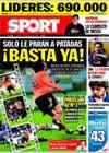 Portada diario Sport del 11 de Diciembre de 2009