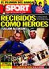 Portada diario Sport del 14 de Diciembre de 2009