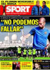 Portada diario Sport del 15 de Diciembre de 2009