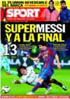 Portada diario Sport del 17 de Diciembre de 2009