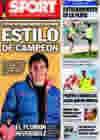 Portada diario Sport del 18 de Diciembre de 2009