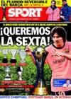 Portada diario Sport del 19 de Diciembre de 2009