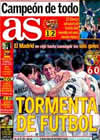 Portada diario AS del 20 de Diciembre de 2009