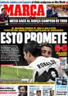 Portada diario Marca del 20 de Diciembre de 2009