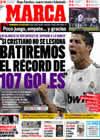 Portada diario Marca del 21 de Diciembre de 2009