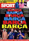 Portada diario Sport del 21 de Diciembre de 2009