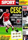 Portada diario Sport del 27 de Diciembre de 2009