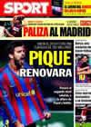 Portada diario Sport del 28 de Diciembre de 2009