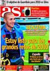 Portada diario AS del 29 de Diciembre de 2009