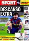 Portada diario Sport del 29 de Diciembre de 2009