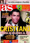 Portada diario AS del 30 de Diciembre de 2009