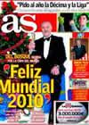 Portada diario AS del 1 de Enero de 2010