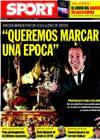 Portada diario Sport del 1 de Enero de 2010