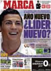 Portada diario Marca del 3 de Enero de 2010
