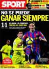 Portada diario Sport del 3 de Enero de 2010