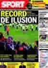 Portada diario Sport del 8 de Enero de 2010