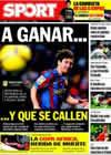 Portada diario Sport del 10 de Enero de 2010