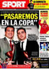 Portada diario Sport del 12 de Enero de 2010