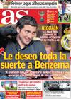 Portada diario AS del 13 de Enero de 2010