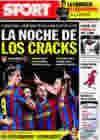 Portada diario Sport del 13 de Enero de 2010