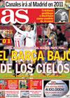 Portada diario AS del 14 de Enero de 2010
