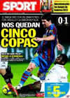 Portada diario Sport del 14 de Enero de 2010