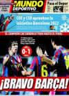 Portada Mundo Deportivo del 14 de Enero de 2010