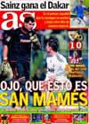 Portada diario AS del 17 de Enero de 2010